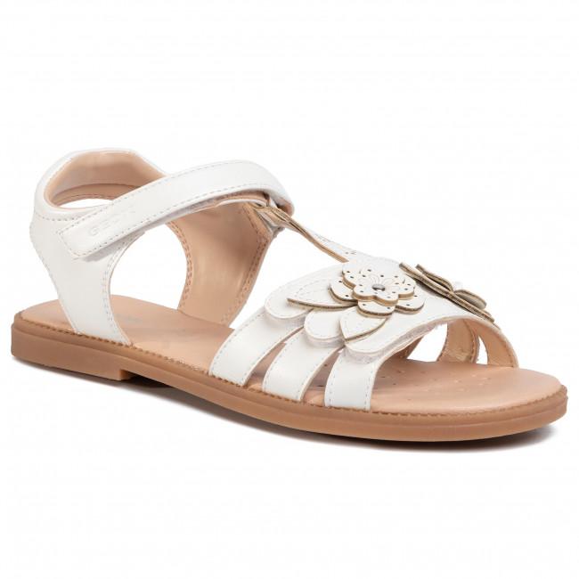 Sandále GEOX - J S.Karly G. H 0235H 000NF C1000 D White