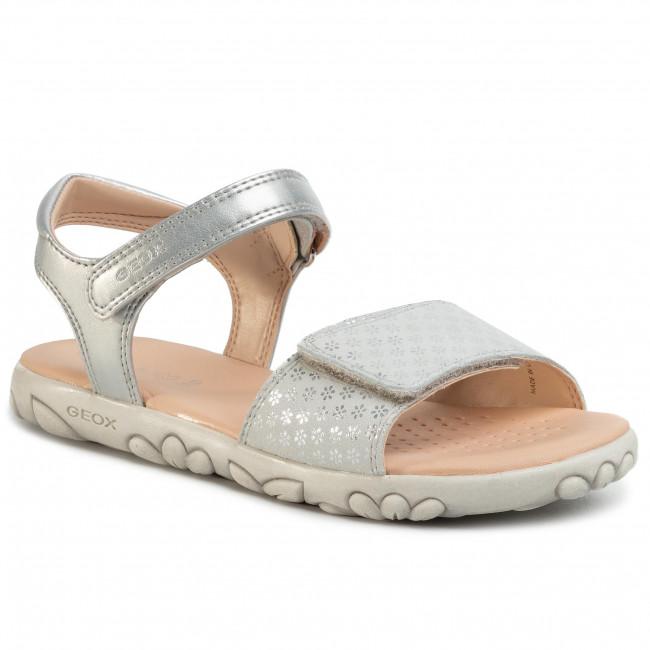 Sandále GEOX J S.Haiti G.A J028ZA 007NF C1007 D Silver