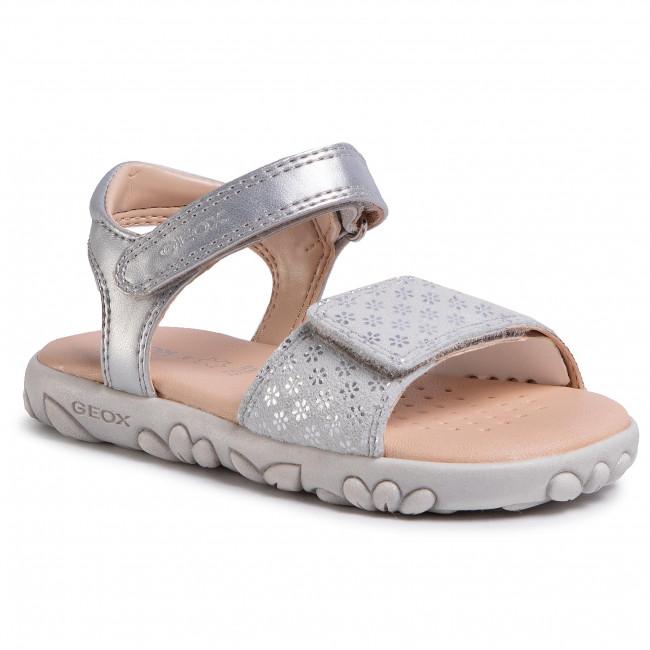 Sandále GEOX J S. Haiti G.A J028ZA 007NF C1007 M Silver