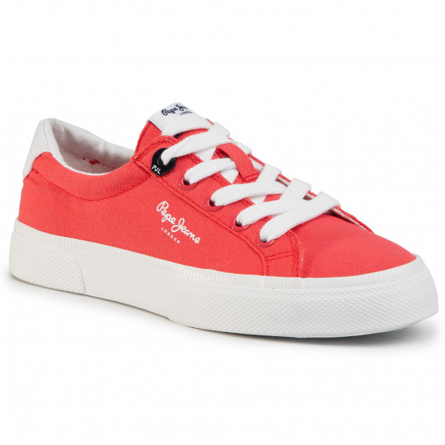 Tenisky PEPE JEANS - Kenton Basic Boy PBS30444 Red 255