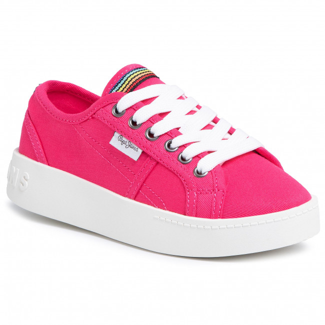 Sneakersy PEPE JEANS - Brixton Canvas PGS30448 Fuchsia 357