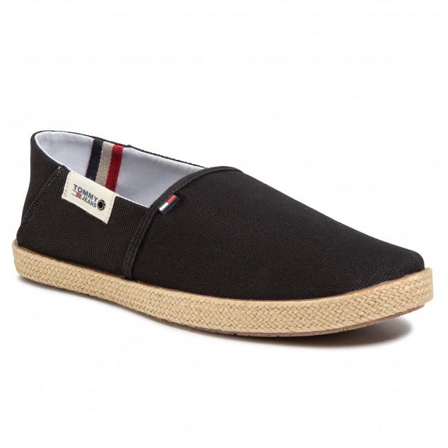 Espadrilky TOMMY JEANS - Summer Shoe EM0EM00423 Black BDS