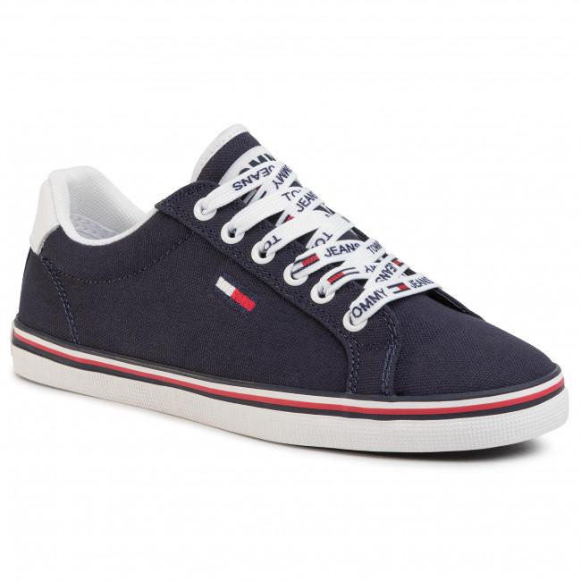 Tenisky TOMMY JEANS - Essential Lace Up Sneaker EN0EN00786 Twilight Navy C87