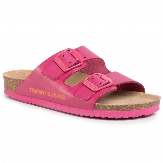 Šľapky TOMMY JEANS - Color Block Flat Sandal EN0EN00835 Blush Red XIF