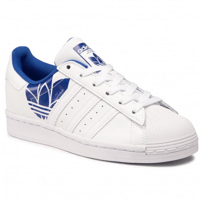 Topánky adidas - Superstar FY2826 Ftwwht/Ftwwht/Royblu