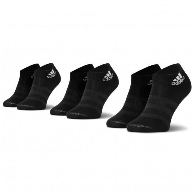Súprava 3 párov kotníkových ponožiek unisex adidas - Light Ank 3Pp DZ9436 Black/Black/Black