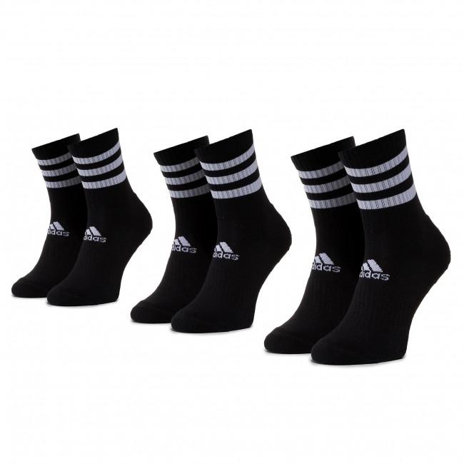 Súprava 3 párov vysokých ponožiek unisex adidas - 3s Csh Crw3p DZ9347 Black/Black/Black