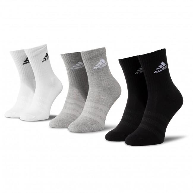 Súprava 3 párov vysokých ponožiek unisex adidas - Cush Crw 3Pp DZ9355 Mgreyh/Mgreyh/Black