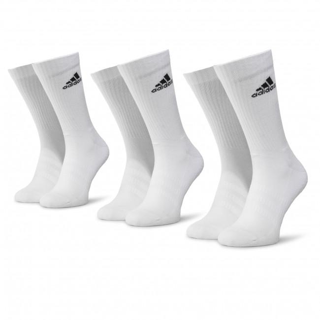 Súprava 3 párov vysokých ponožiek unisex adidas - Cush Crw 3PP DZ9356 White/White/Black
