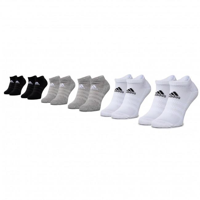 Súprava 6 párov kotníkových ponožiek unisex adidas - Cush Low 6Pp DZ9380 Mgreyh/Mgreyh/White
