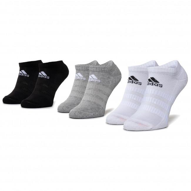 Súprava 3 párov kotníkových ponožiek unisex adidas - Cush Low 3Pp DZ9383 Mgreyh/White/Black