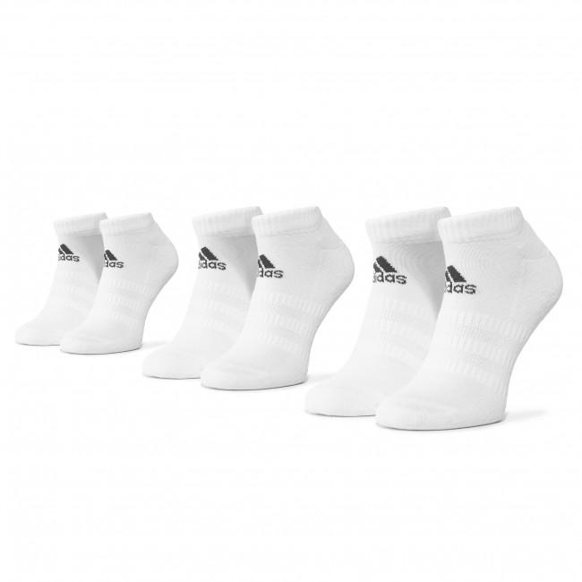Súprava 3 párov kotníkových ponožiek unisex adidas - Cush Low 3Pp DZ9384  White/White/White