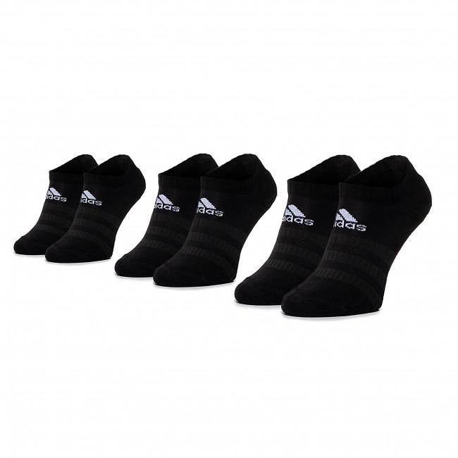 Súprava 3 párov kotníkových ponožiek unisex adidas - Cush Low 3PP DZ9385 Black/Black/Black