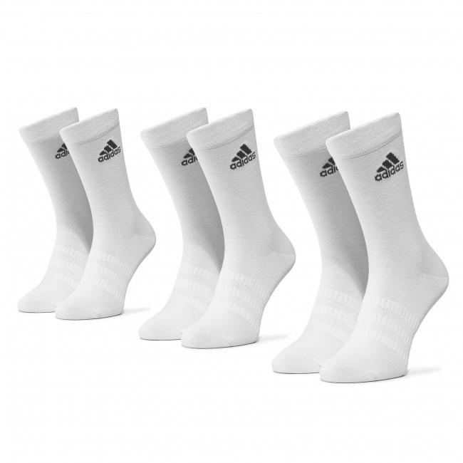 Súprava 3 párov vysokých ponožiek unisex adidas - Light Crew 3Pp DZ9393  White/White/White
