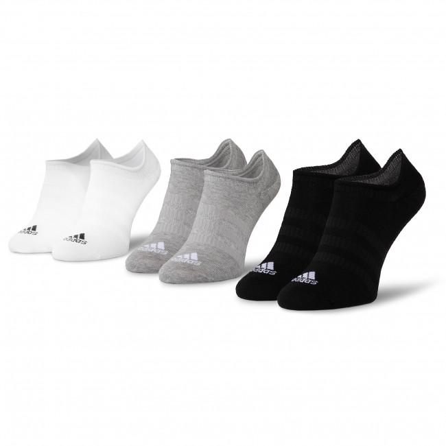 Súprava 3 párov kotníkových ponožiek unisex adidas - Light Nosh 3PP DZ9414 Mgreyh/White/Black