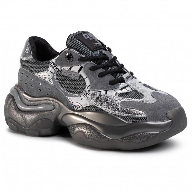 Sneakersy BIG STAR - FF274A525 Black/Silver