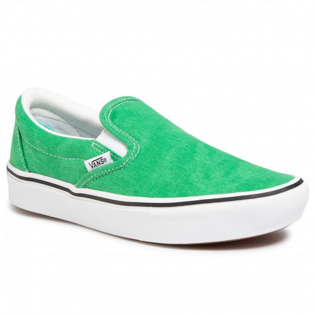 Tenisky VANS - Comfycush Slip-On VN0A3WMDWYC1 (Washed Canvas)Fern Green