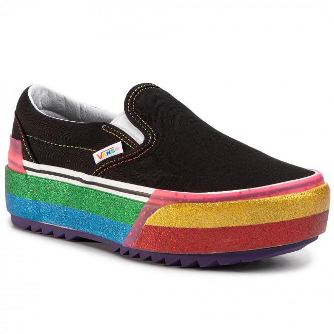 Tenisky VANS - Classic Slip-On S VN0A4TZVWW11  (Glitter) Black/Rainbow