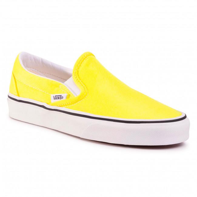 Tenisky VANS - Classic Slip-On VN0A4U38WT71 (Neon) Lemon Tonic/Tr Wht