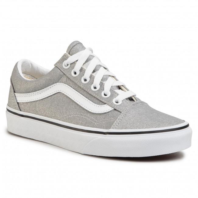 Tenisky VANS - Old Skool VN0A4U3BX1K1 Silver/True White