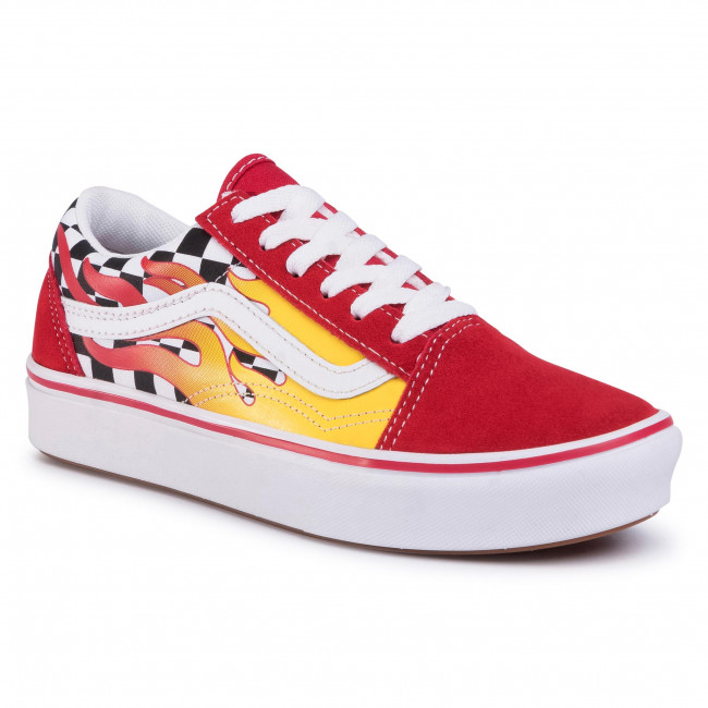 Tenisky VANS - Comfycush Old Sko (Flame) Checkerboard/Red