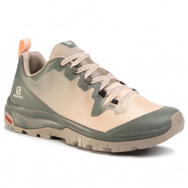 Trekingová obuv SALOMON - Vaya 410411 20 V0 Vintage Kaki/Bellini/Castor Gray