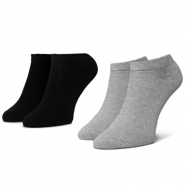 Súprava 2 párov kotníkových ponožiek dámskych TOM TAILOR - 97138610 Black