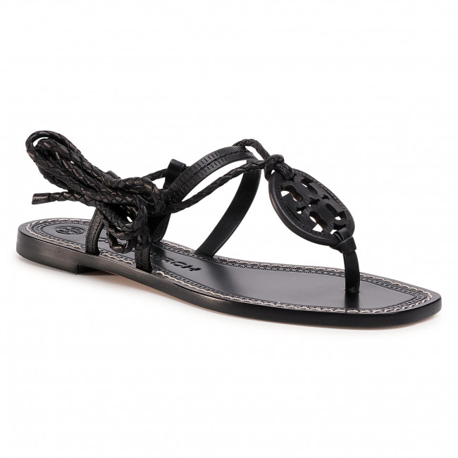 Sandále TORY BURCH - Miller Braided Ankle 63393 Perfect Black/Perfect Black 004
