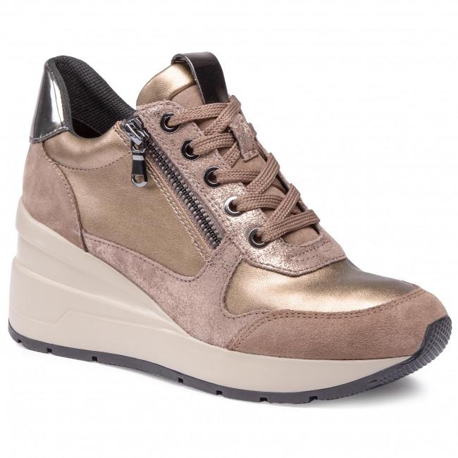 Sneakersy GEOX - D Zosma B D048LB 022NF C5MR6 Dk Beige/Tobacco