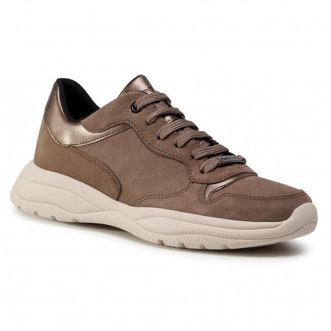 Sneakersy GEOX - D Smeraldo A D04GCA 022BN C5M9H Dk Beige/Lead