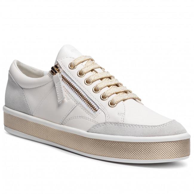 Sneakersy GEOX - D Leelu' E D94FFE 08522 C1000  White