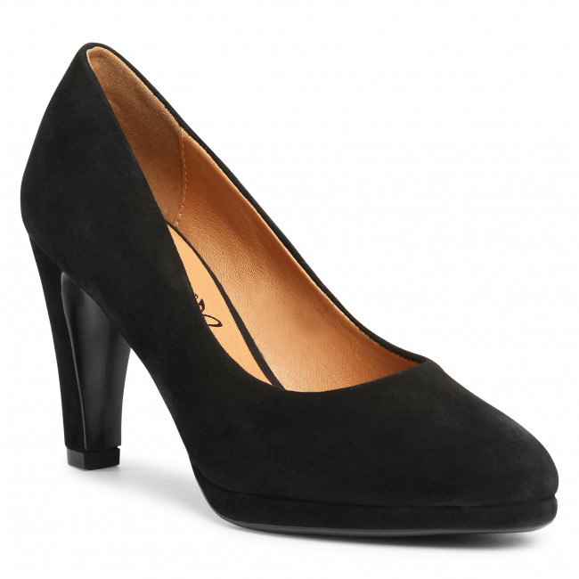 Poltopánky CAPRICE - 9-22402-25 Black Suede 004