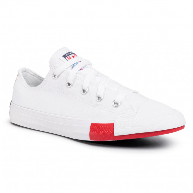 Tramky CONVERSE - Ctas Ox 366993C White/University Red/Black