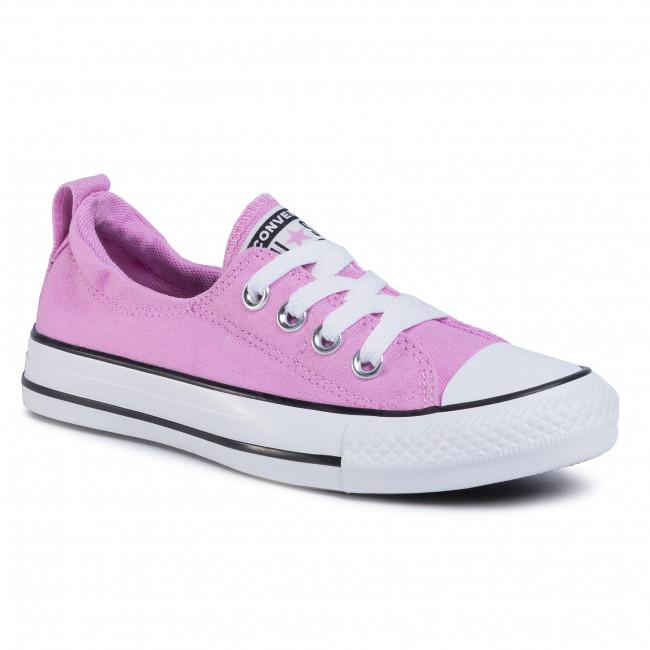 Tramky CONVERSE - Ctas Shoreline Slip 567023C  Peony Pink/Multi/White