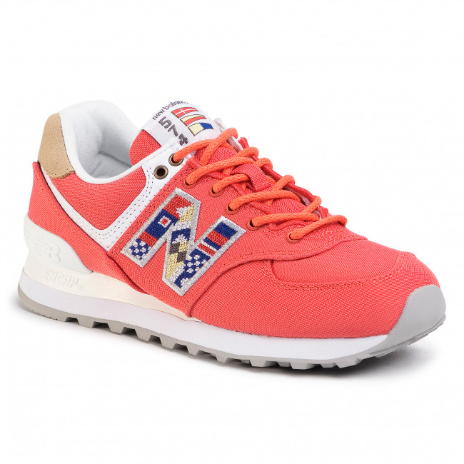 Sneakersy NEW BALANCE - WL574SOF Červená