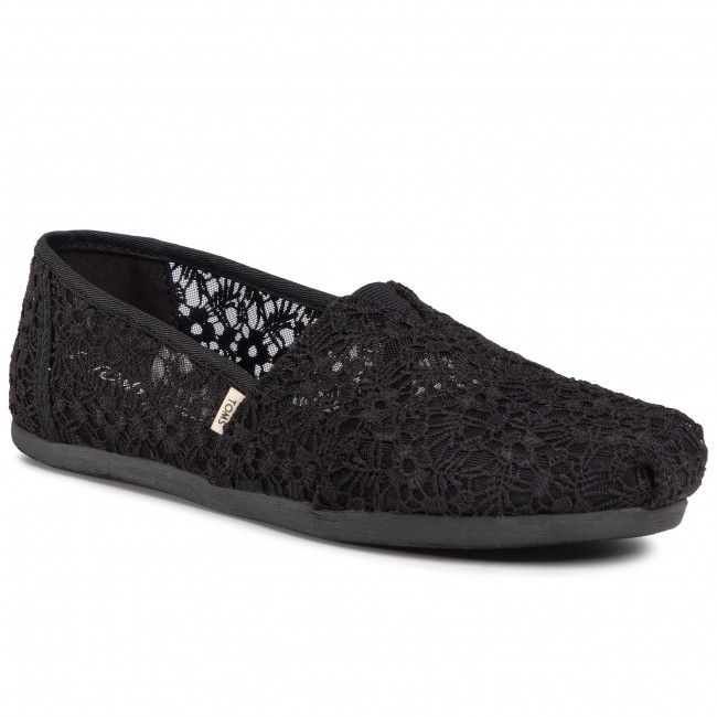 Poltopánky TOMS - Classic 10015063 Black Floral Lace