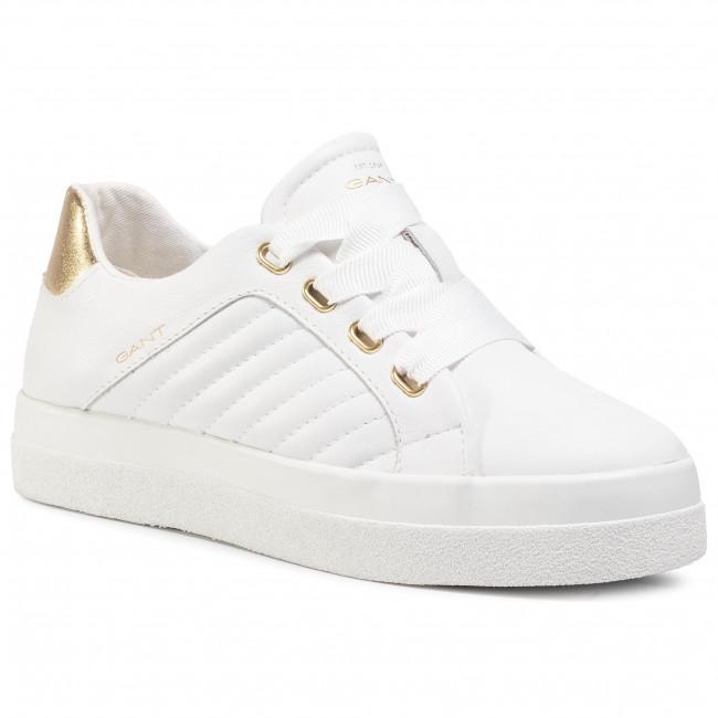 Sneakersy GANT - Avona 21531884 Bright White/Gold G279