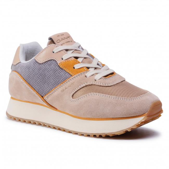 Sneakersy GANT - Bevinda 21533840  Beige/Gray/Khaki G101