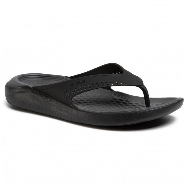 Žabky CROCS - Literide Flip 205182  Black/Slate Grey