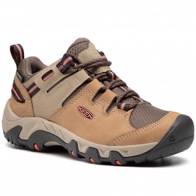 Trekingová obuv KEEN - Steens Wp 1022336 Timberwolf/Coral