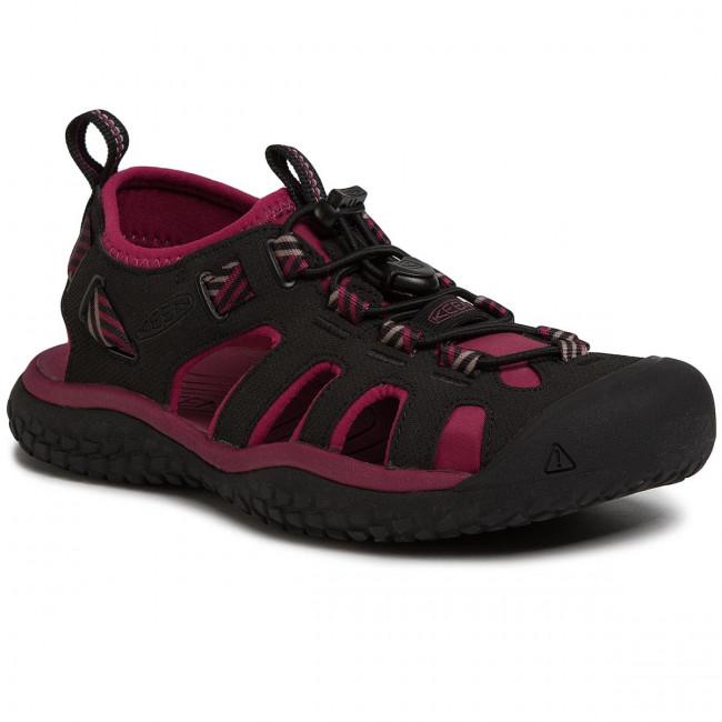 Sandále KEEN - Solr Sandal 1022454 Raspberry Wine/Black