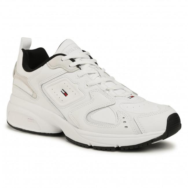 Sneakersy TOMMY JEANS - Heritage Tommy Jeans Sneaker EM0EM00491 White YBR