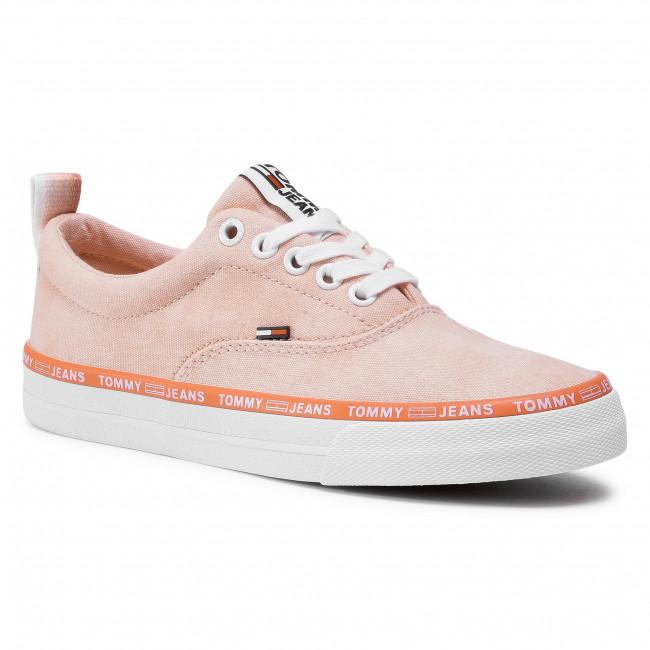 Tenisky TOMMY JEANS - Pastel Color Lace Up Sneaker EN0EN00936 Sweet Peach TKE