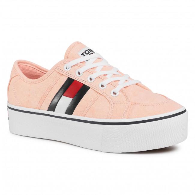 Tenisky TOMMY JEANS - Flatform Flag Sneaker EN0EN00944 Sweet Peach TKE