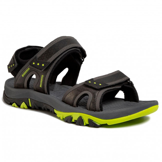 Sandále ELBRUS - Lidden Black/Dark Grey/Lime