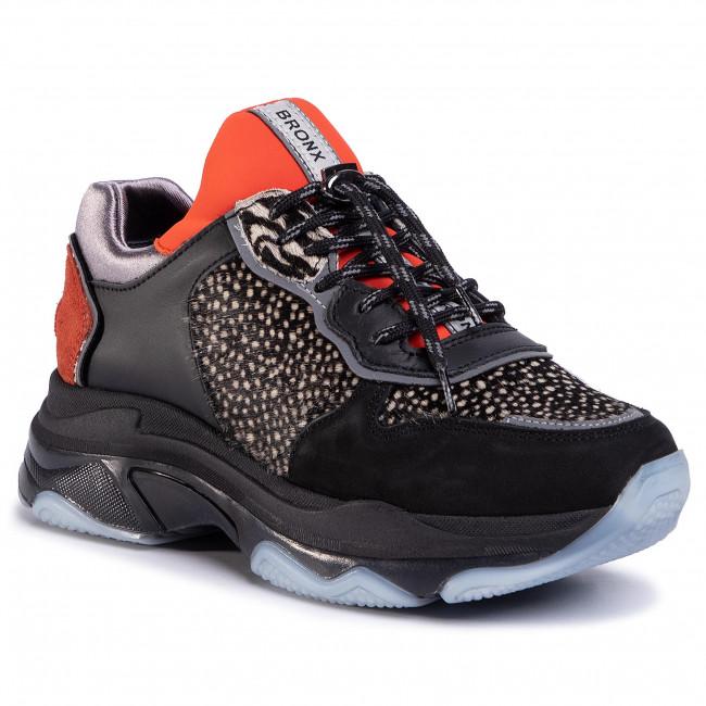 Sneakersy BRONX - 66167E-BC BX 1525 Black/Stingray/Rust 3246