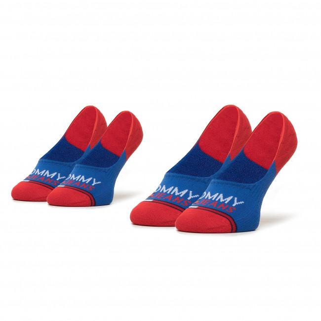 Súprava 2 párov krátkych ponožiek unisex TOMMY JEANS - 100000403 Forever Blue 005