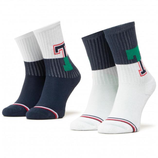 Súprava 2 párov vysokých ponožiek detských TOMMY HILFIGER - 100000807 Tommy Original 001