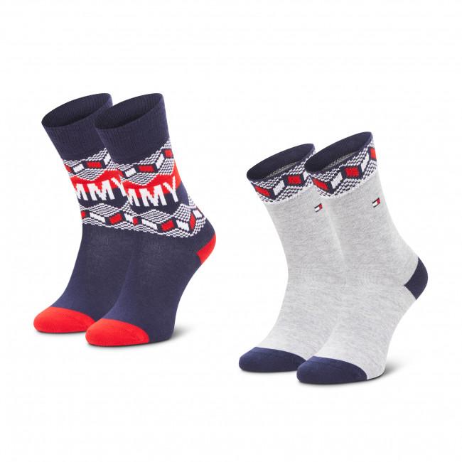 Súprava 2 párov vysokých ponožiek detských TOMMY HILFIGER - 100000810  Tommy Orginal 001