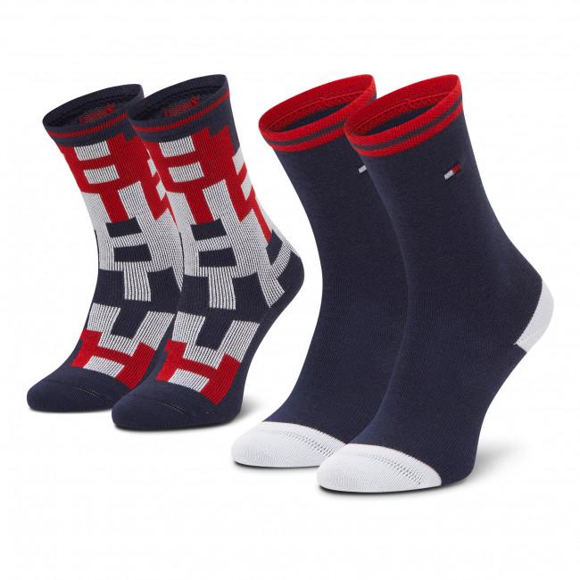 Súprava 2 párov vysokých ponožiek detských TOMMY HILFIGER - 100000811  Tommy Orginal 001